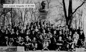 Corul Reuniunii PORUMBESCU 1938
