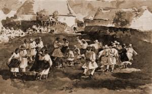 Strânsură ruteană din Bucovina, în porturi ruteneşti autentice