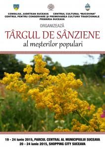 Afis -Targ de Sanziene 2015