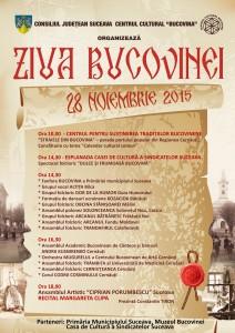 Ziua Bucovinei 28 nov 2015 - Afis