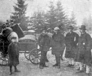 1915 GAZETA ILUSTRATA Grup de refugiali bucovineni la frontiera